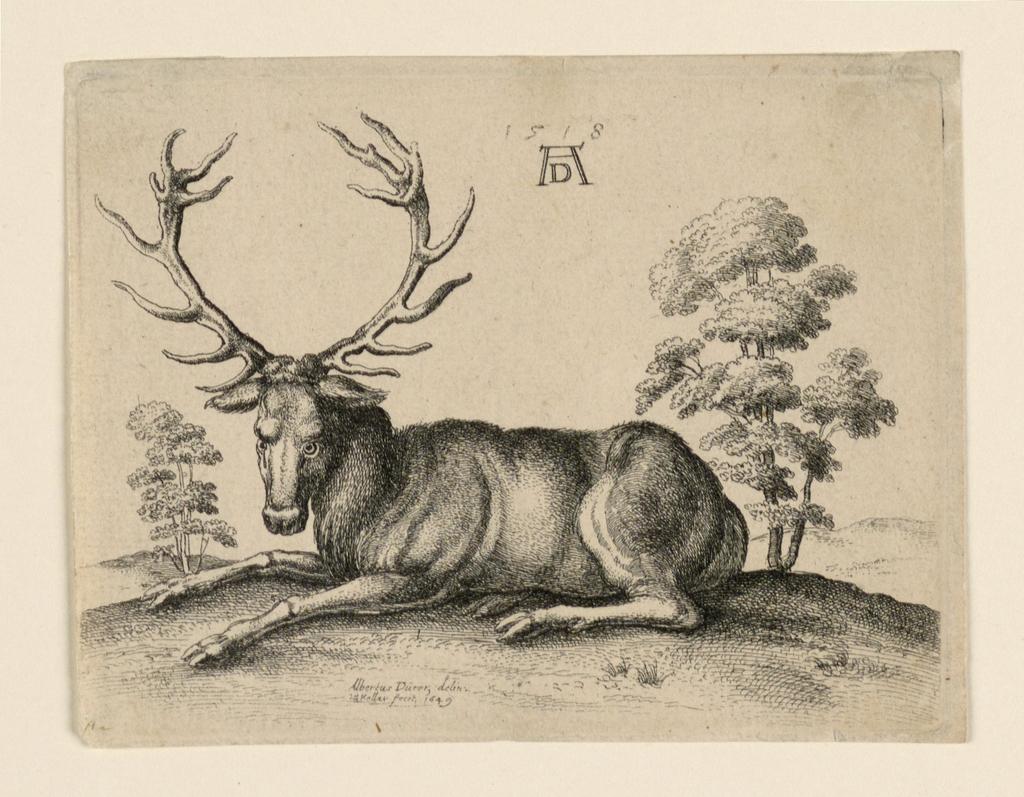 """Inscribed at upper center: """"1518 AD""""; lower center: """"Albertus Durer delin. W. Hollar fecit 1649"""""""