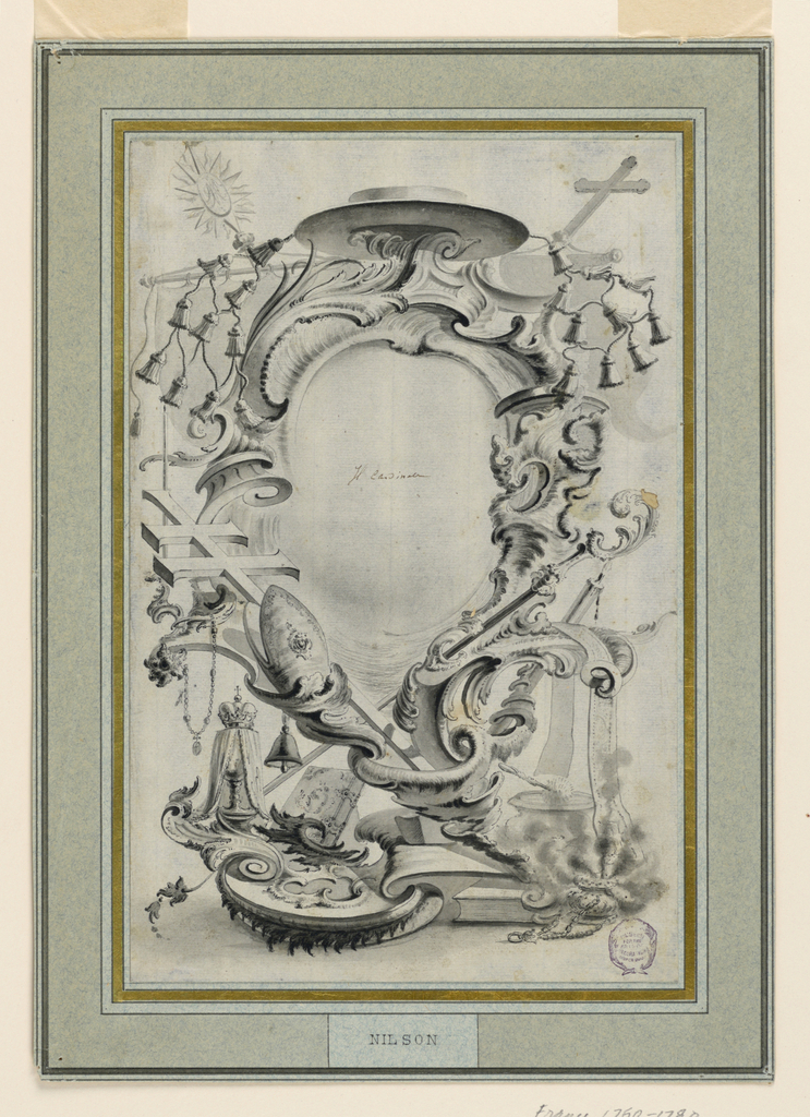 Drawing, Design for an Escutcheon, 1721–1783