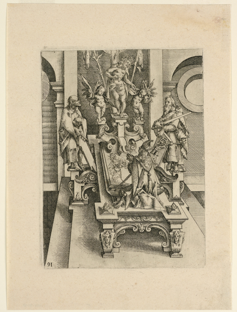 Print, Tomb Sculpture (?), late 16th century