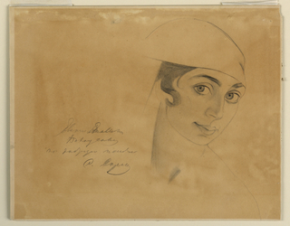 Drawing, Portrait of Vera de Bossett, ca. 1925