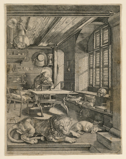 Print, Saint Jerome in his Cell