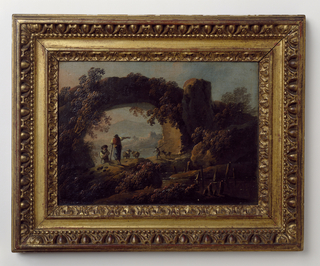Painting, Rustic Landscape with Aqueduct and Figures