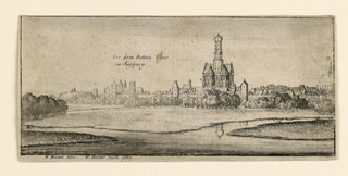 Print, View of Augsburg before t, 1665