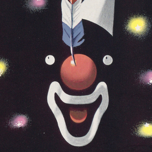 Advertisement for the New York Subway Advertising Company encouraging businesses to purchase advertising space for a poster on the subway. Image of a subway poster recreated at upper right portion of the page. Image on black ground of a disjointed face of a clown, made up of only eyes, a red nose with red, white, and blue feather, an open mouth and tongue, and a white cone hat. Behind, purple and yellow lights forming a ring around the clown's face. At top of image, in white, gray, and yellow text: SUBWAY [italicized] / POSTERS. At bottom of image: PERFORM / DAILY BEFORE FIVE MILLION / PAIRS OF EYES / [New York Subway Advertising Company logo in blue]. Above image in upper margin, in black text: No. 1 of a Series of New York Subway Poster Designs.; left margin: Subway Poster Designed by / E. McKnight Kauffer / NEW YORK / Recognized on both sides of / the Atlantic as one of the / most distinguished leaders / in modern poster art.; lower margin, in black text: Subway posters perform…daily…before five million pairs of eyes. No matter what New Yorkers' / preferences may be…in music…entertainment…reading…they all see subway station posters. / Subway posters…strategically located within a few steps of thousands of New York's retail stores… / always illuminated and in plain sight of the subway riders…offer a combination unique in New York: / COVERAGE—89% of adults; REPETITION—26 per month; COLOR—all you want.