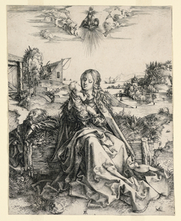 Print, The Holy Family with Butterfly, ca. 1495