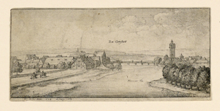 Print, Distant View of Cannstadt, 1665