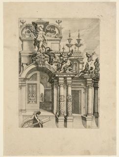 Print, Architectural Fantasy, late 16th century