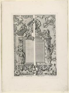 """Print, Unterschiedlich Augspurgische Goldschmidts Arbeit, """"Mirror Frame"""", Plate 5, 1721–40"""