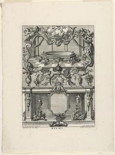 "Print, Unterschiedlich Augspurgische Goldschmidts Arbeit, ""Hyms"", Plate 4, 1721–40"