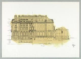 Drawing, Carnegie Mansion Embellishment, 1977