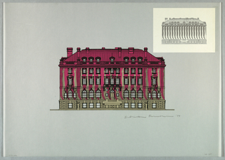 Drawing, Carnegie Mansion Embellishment, 1977