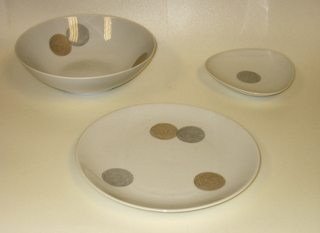 Exquisit (shape), Coins (pattern) Bowl, designed 1951–52, produced after 1953