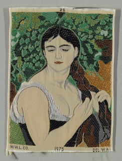 Souvenir Ribbon Portrait, The Braid (Suzanne Valadon) by Pierre-Auguste Renoir (French, 1841–1919), 1975