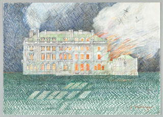 Drawing, Carnegie Mansion Embellishment, ca. 1977