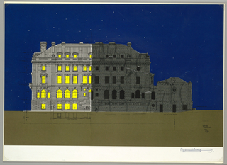 Drawing, Carnegie Mansion Embellishment, ca. 1977