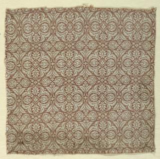 Rose and white quatrefoil design