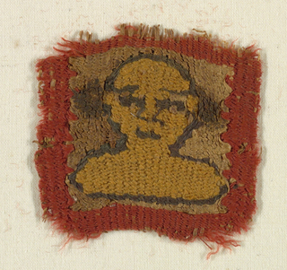 Fragment with a bust of a man.