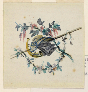 Drawing, Trophies with Historical Attributes, ca. 1780