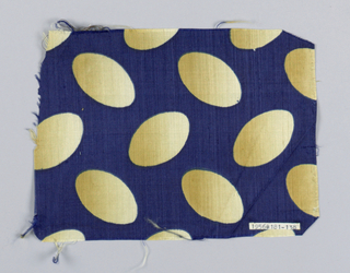 Same design as 1956-181-147, tan ombre ovals on a navy ground.