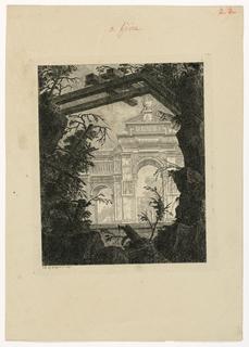 Print, Tombeau monumental en forme d'Arc de Triomphe, 1768, published 1770