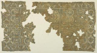 Two fragments of a geometrical interpretation of a foliate pattern.