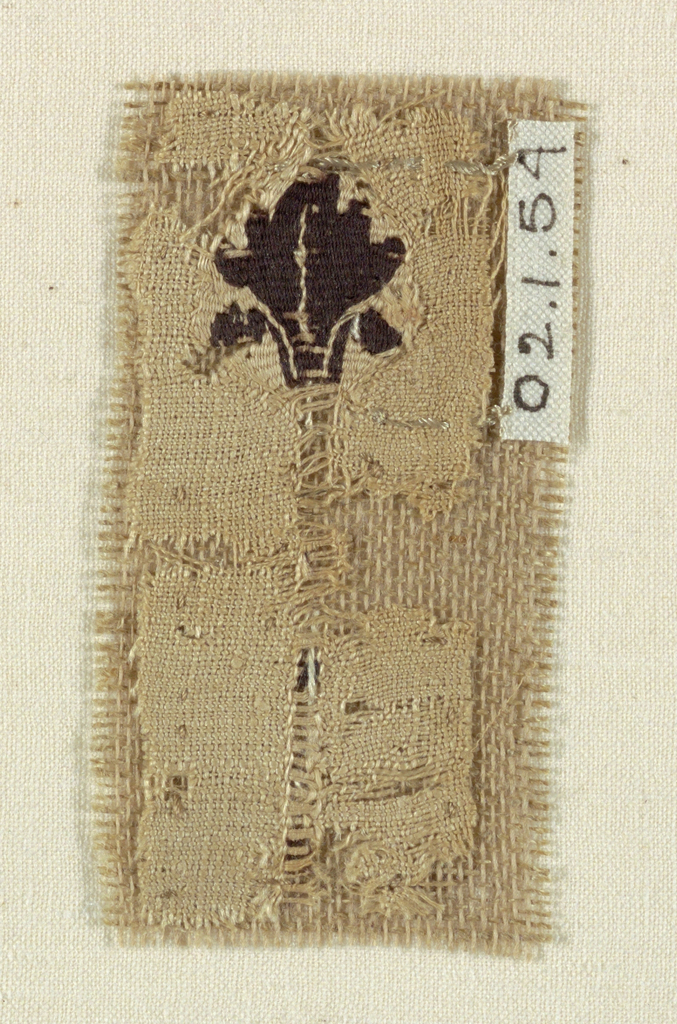 Small fragment depicting a leaf.