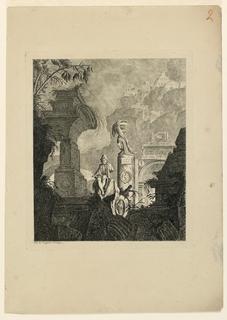 Print, Prophete pleurant Jérusalem, 1768, published 1770