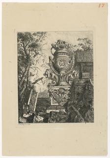 Print, Vase monumental avec deux monstres marins, 1768, published 1770