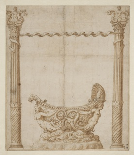 Drawing, Design for a Boat-Shaped Vessel, possibly intended as a Festival Float