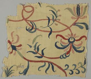 Crewel Wool Fragment (England)