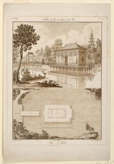 Print, Design for a Chinese Pavilion in a Lake