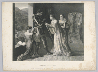 Print, Arming the Knight, 1830-1848
