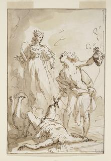 Drawing, Juno, Mercury, and the Slain Argus