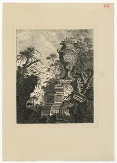 Print, Vase monumental décoré d'un bas-relief de caricatures, 1768, published 1770