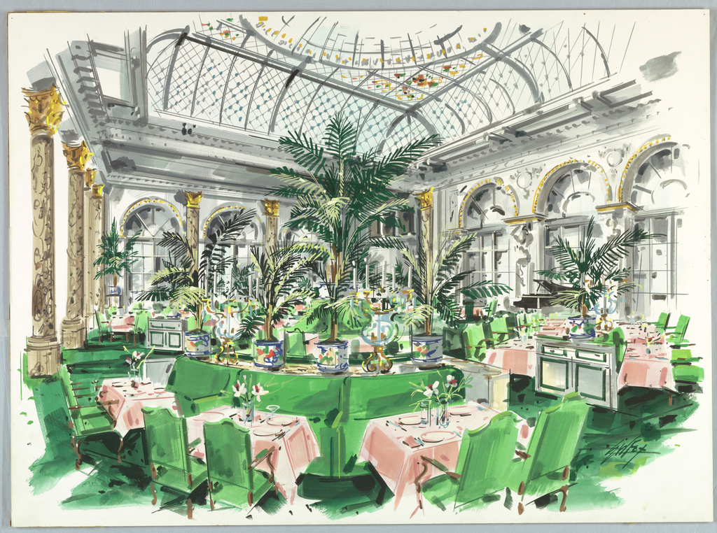 Drawing, Proposal for Restaurant, Plaza Hotel: New York, New York, USA