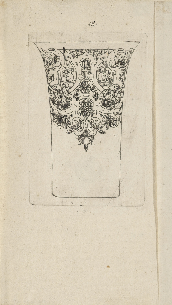 Print, Plate from 12 Stick Zum Verzaighnen Stechen Ver Fertigt  (Set of Twelve Designs for Engraved Vessels)