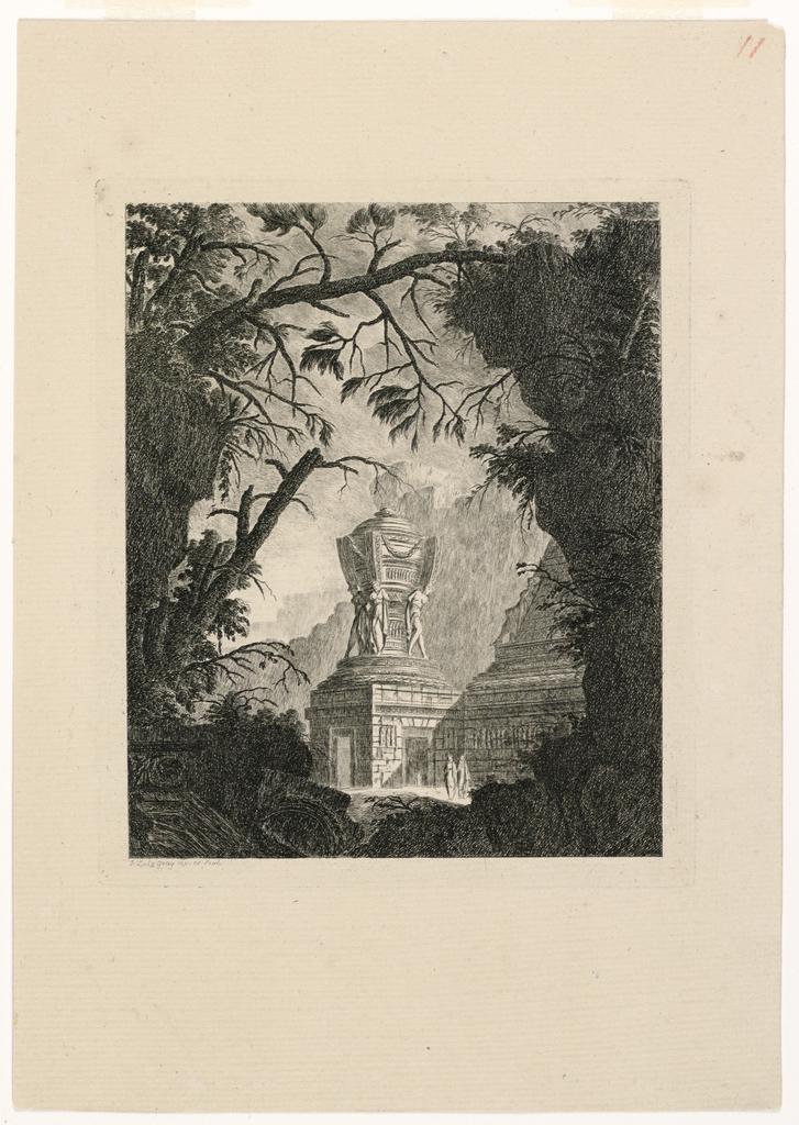 "Print, Tombeau monumental avec trois femmes adossées from the series ""Tombeaux"""