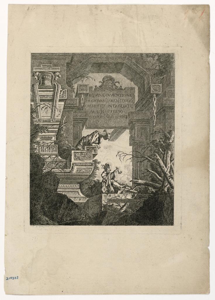 "Print, Frontispiece des ""Rovines"", 1768, published 1770"