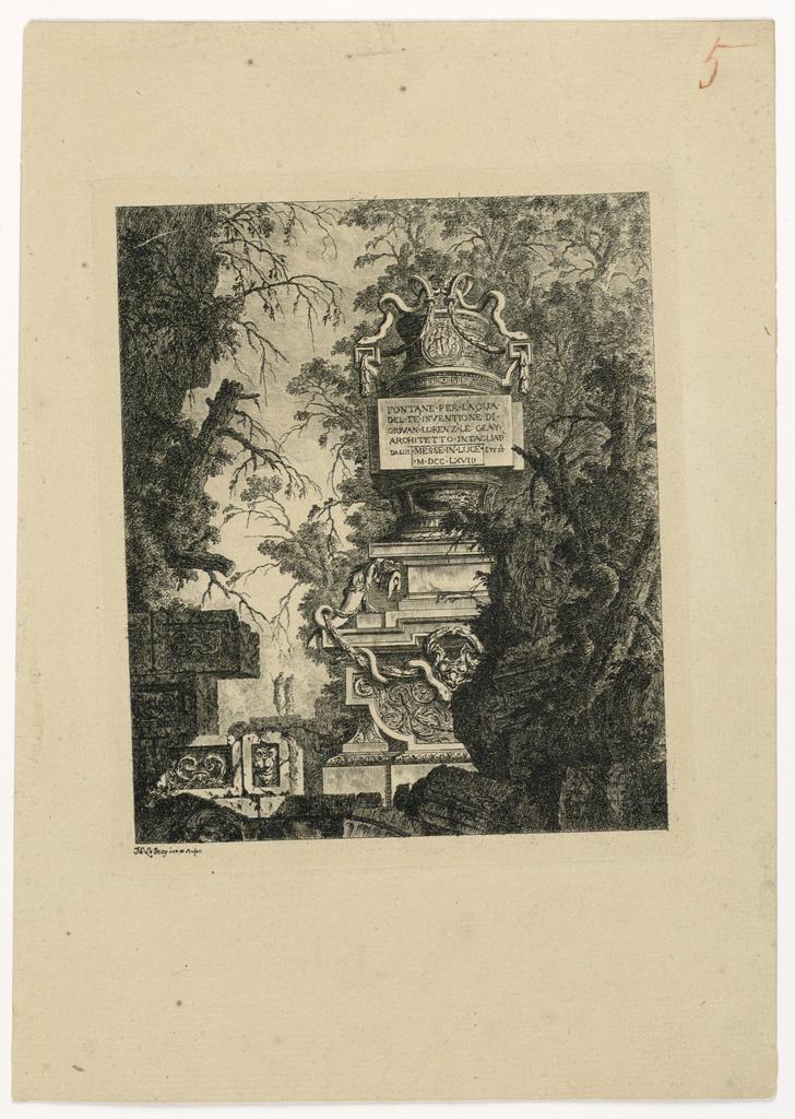 "Print, Frontispiece des ""Fontane"", 1768, published 1770"