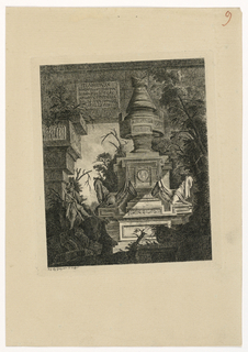 "Print, Frontispiece des ""Tombeaux"", 1768, published 1770"