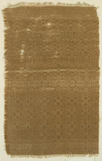 Lozenge pattern in tan.
