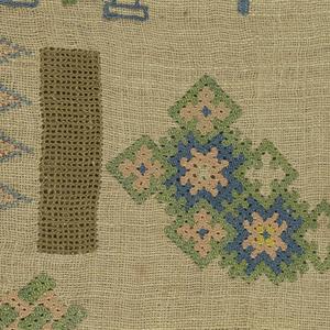 Random spot sampler, detached motifs, with interlacings and geometric types.