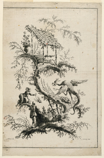 Print, Plate, from Suite de Jeu Chinois, 1770-1780