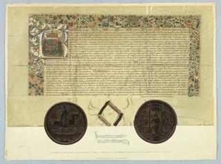 Print, Facsimile of the Original Charter Granted by King Richard III to the Worshipful Company of Wax-Chandlers of the City of London