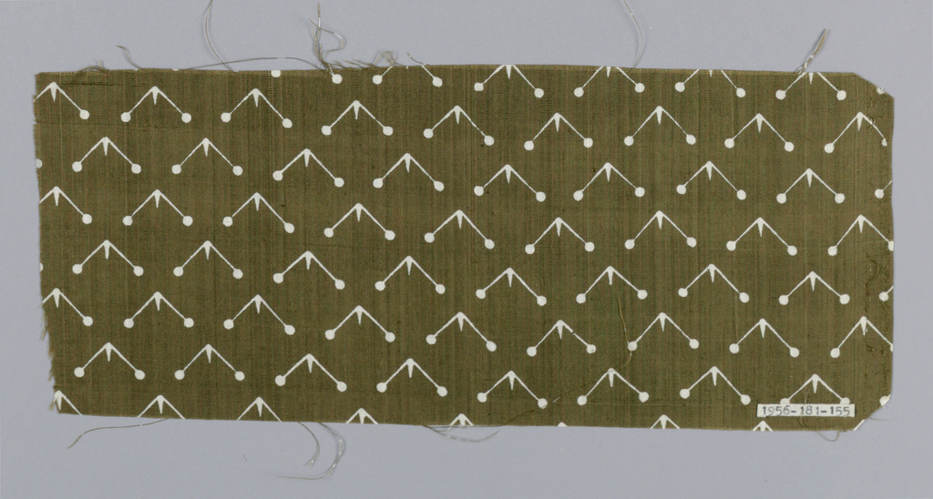 Same design as 1956-181-156, olive ground with white figure.