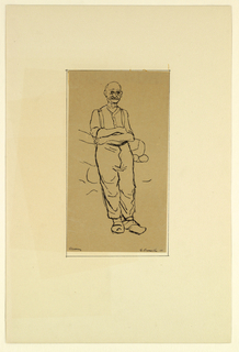 Portfolio of 9 sketches (nineth sketch on portfolio), Portrait of a man