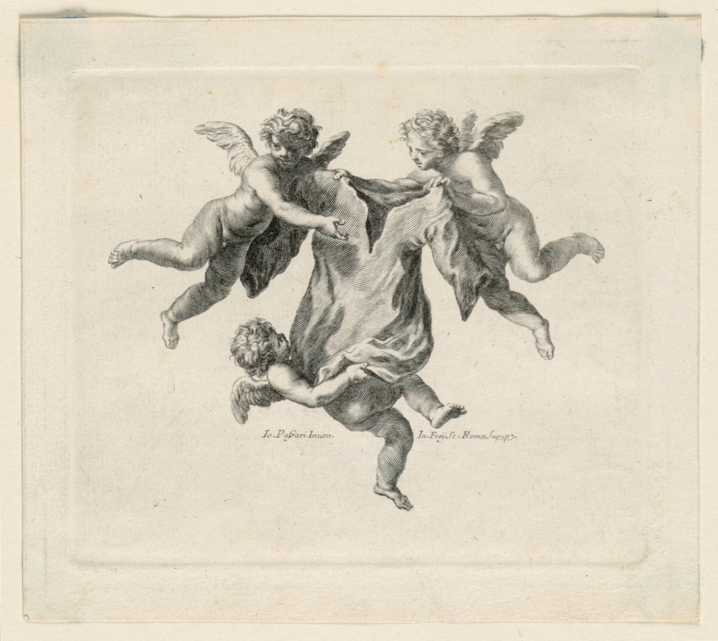 The flying angels carry the Tunic.