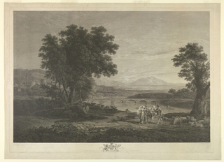 Print, Engraving: Jacob and Labab (after Claude Lorraine), 1783