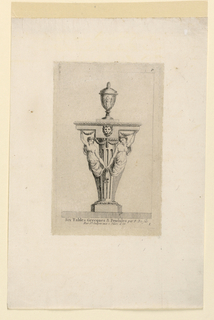 "Print, Design for Table, Plate 1 from, ""Six Tables Grecques & Pendules"""
