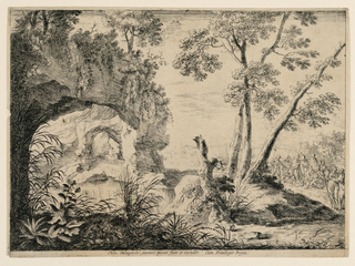 Print, John the Baptist Preaching the Desert, 17th century